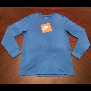 Mens Nike Futura Box Long Sleeve T-Shirt